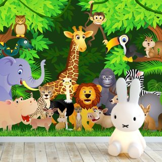 Animals In the Jungle Wallpaper Wall Murals