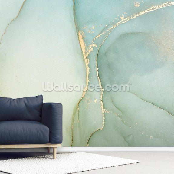 Light Teal Green Marble Mural Wallsauce Ae