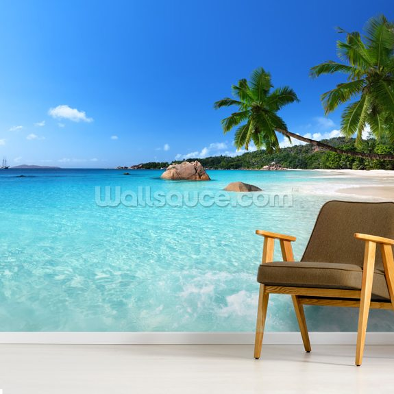 Anse Lazio Beach Seychelles wall mural room setting