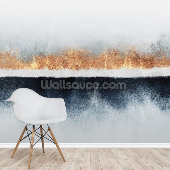 Horizon wall mural room setting
