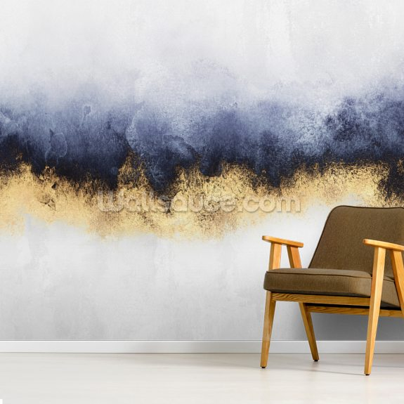 Blue Mist wall mural room setting