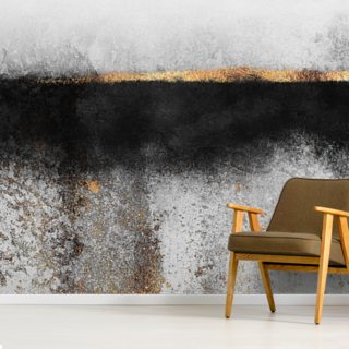 Soot and Gold Wallpaper Wall Murals