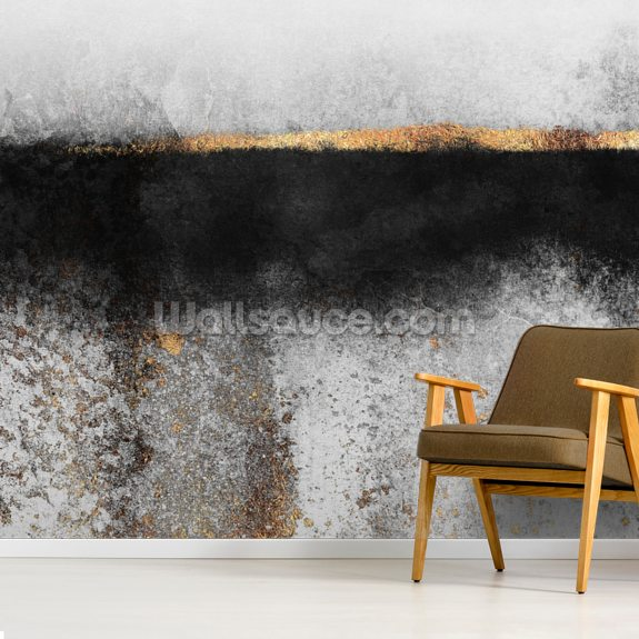 Soot and Gold wallpaper mural room setting