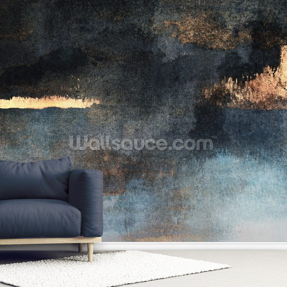 Rain with Sun wall mural room setting