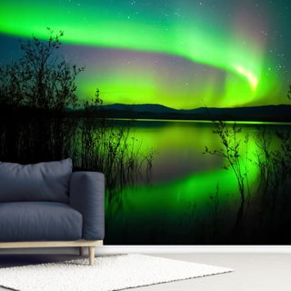 Northern Lights Mirror Wallpaper Wall Murals