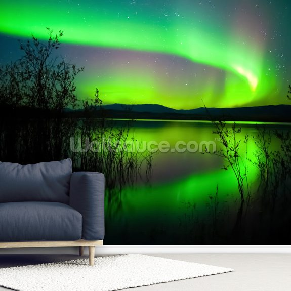 Northern Lights Mirror wall mural room setting