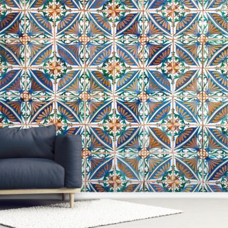 Turkish Geometric Tiles Wallpaper Wall Murals