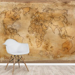 Old Map Wallpaper Wall Murals