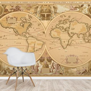 Antique World Map Wallpaper Wall Murals