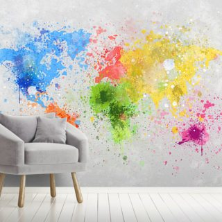 World Map Wallpaper Wall Murals Wallsauce Au