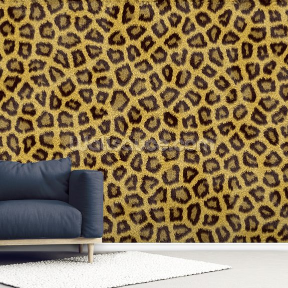 Leopard Skin wallpaper mural room setting