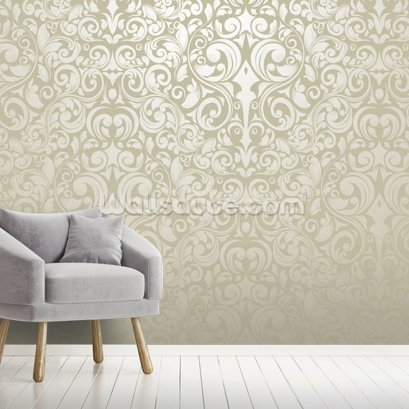 Silver - Wallpaper wall mural room setting