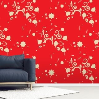Floral - Red and Gold