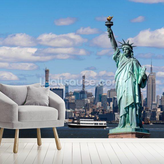 Tapisserie Liberty statue de la liberté new york mur sticker murale la fresque