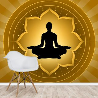 Yoga Lotus Meditation Wallpaper Wallsauce Us
