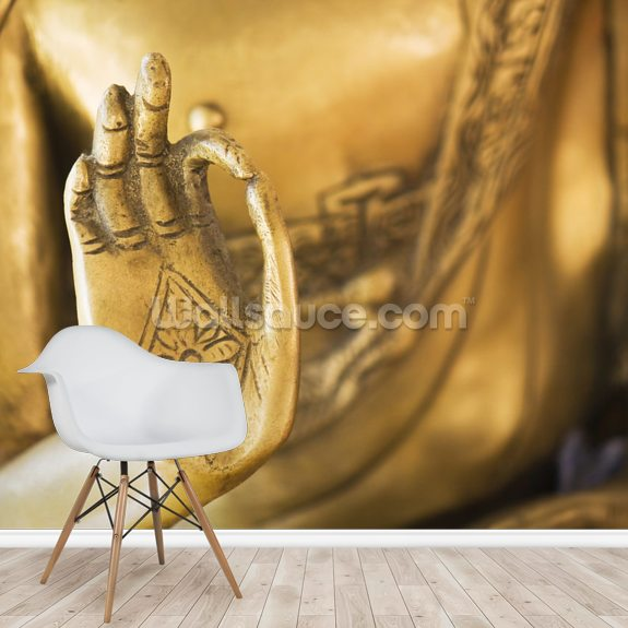Hand of the Golden Buddha wall mural room setting