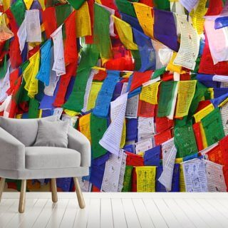Buddhist Prayer Flags Wallpaper Wall Murals
