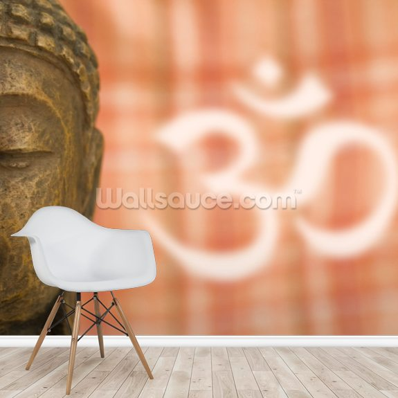 Buddha OM Sign wall mural room setting
