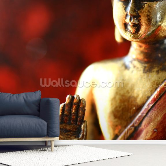Buddha wallpaper mural room setting