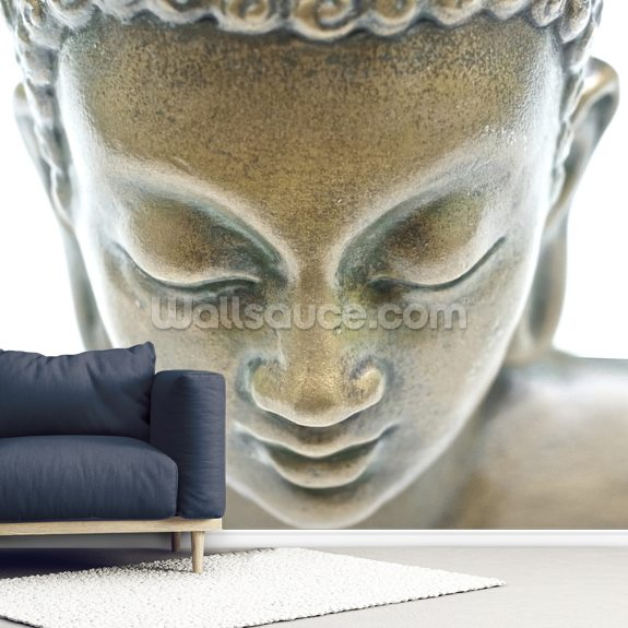 Buddha Portrait wallpaper mural room setting