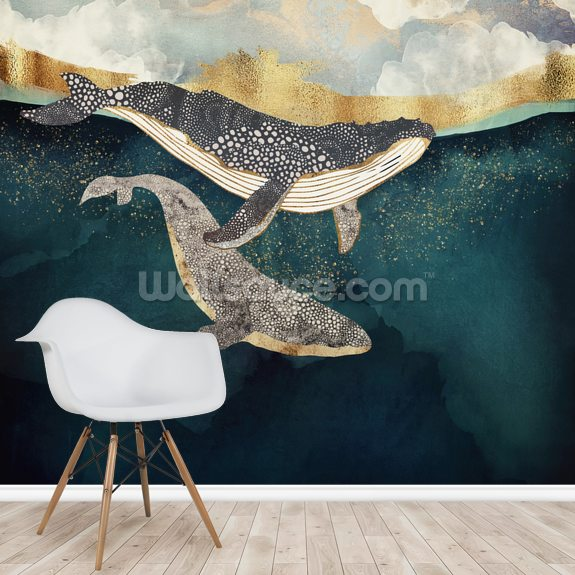 Bond II wall mural room setting