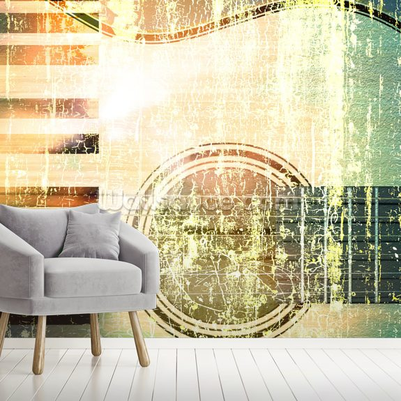 Jazz Music Retro wallpaper mural room setting