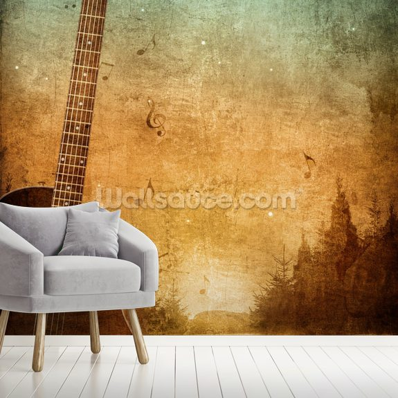 Old Paper Texture wall mural room setting
