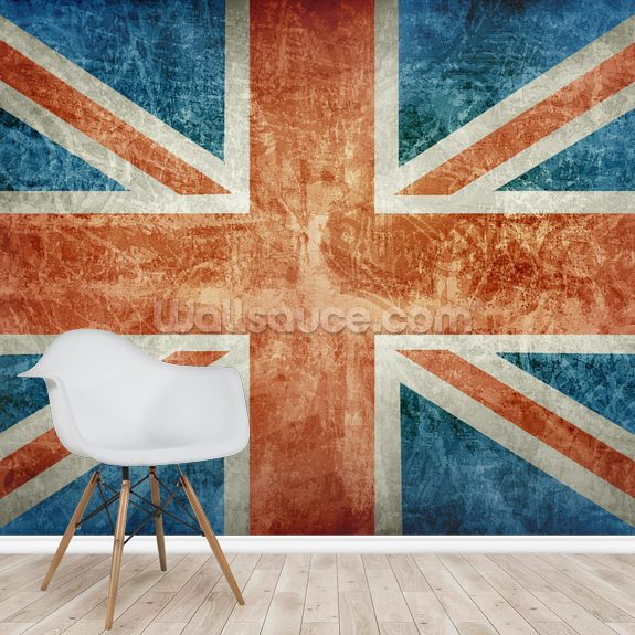 Union Flag mural wallpaper room setting