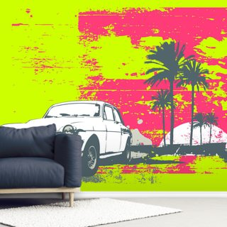 Retro Car Wallpaper Wall Murals