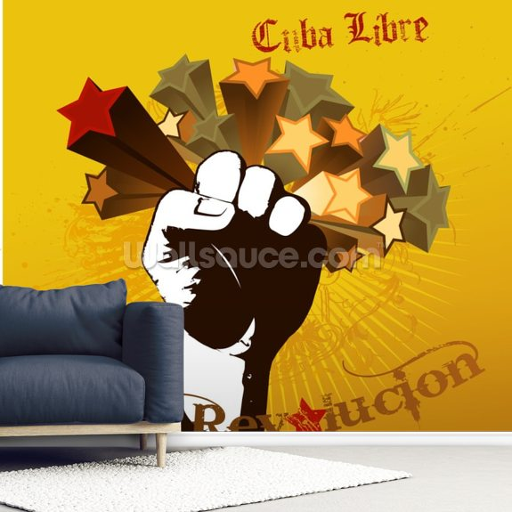 Cuba Libre wallpaper mural room setting