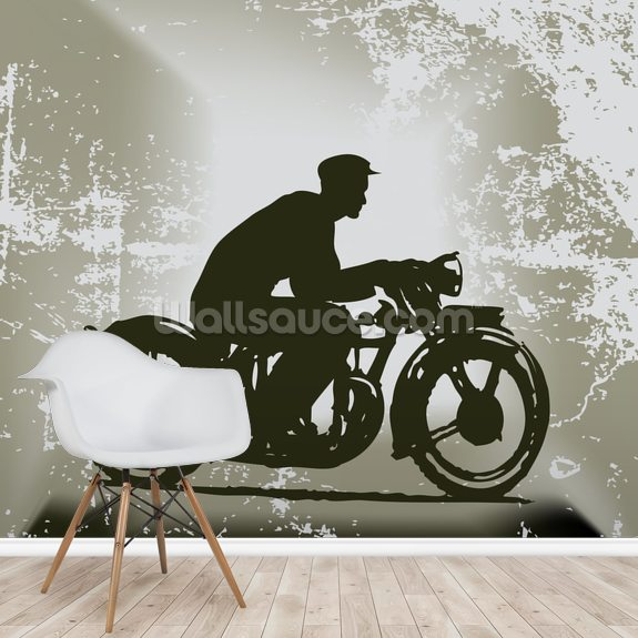 Vintage Motorcycle wall mural room setting