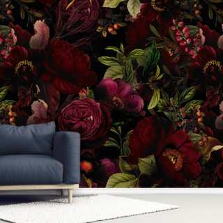 Moody Maroon Wallpaper Wall Murals