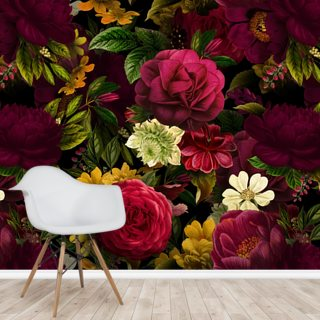 Pink Rose Jungle Wallpaper Wall Murals