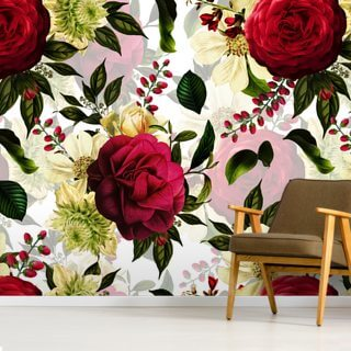 Ruby Red Roses Wallpaper Wall Murals