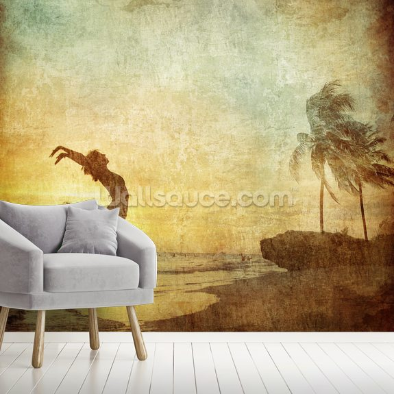 Fresh Air Freedom wallpaper mural room setting