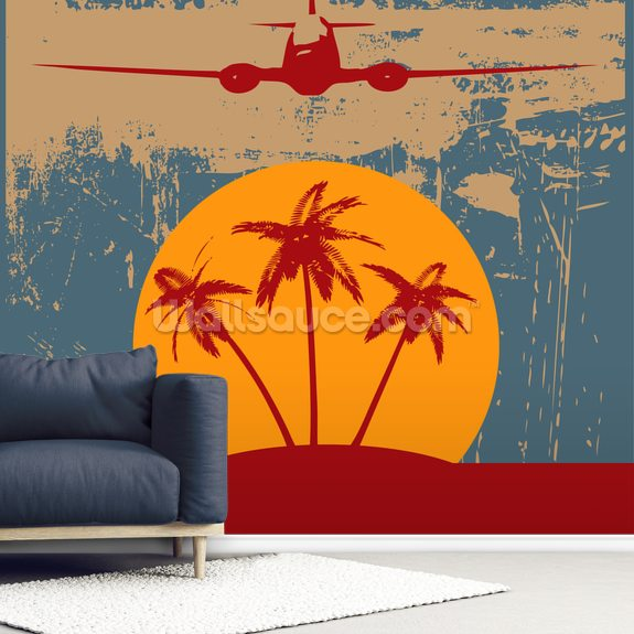 On Vacation wall mural room setting