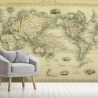 World Antique Map Wallpaper Wall Murals