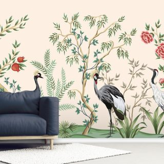 Dusty Pink Chinoiserie