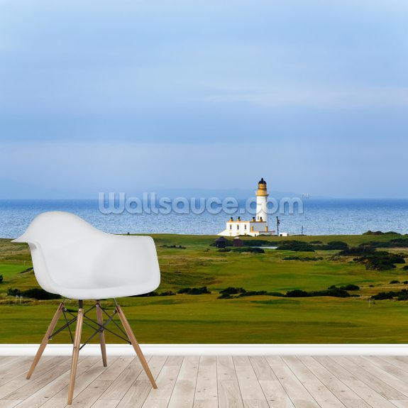 Turnberry Lighthouse mural wallpaper room setting