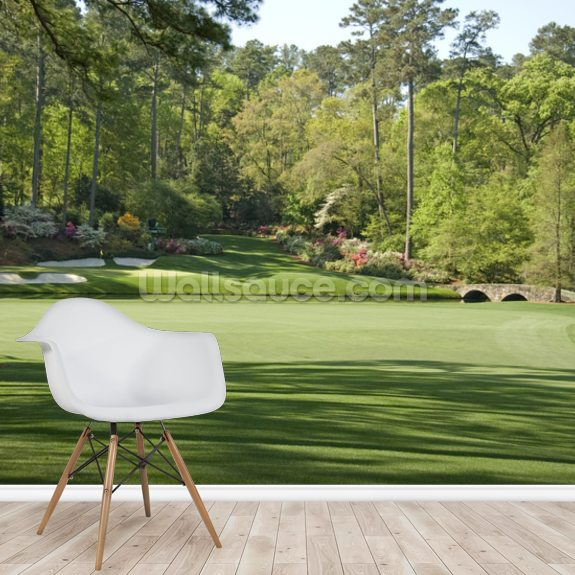 12th Hole at Augusta wall mural room setting