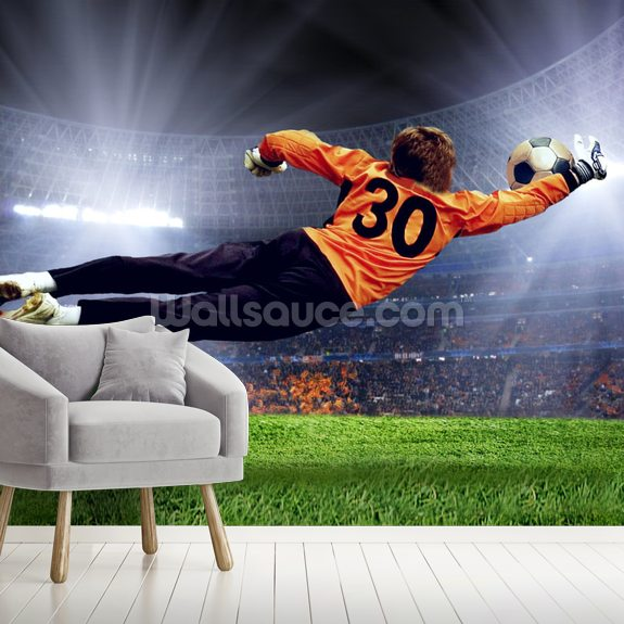Goalkeeper making a save | Wallsauce AU