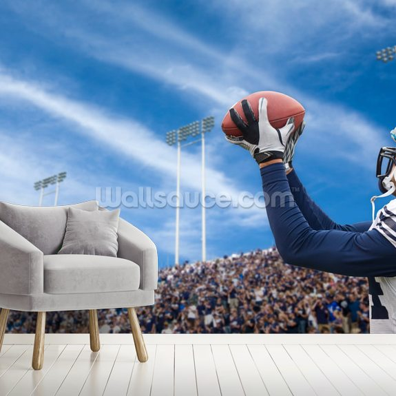 Touchdown Pass wall mural room setting