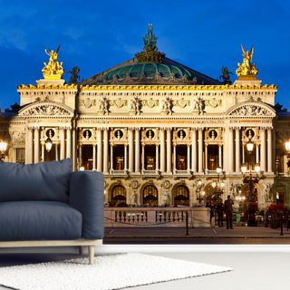 Paris Opera House at Night
