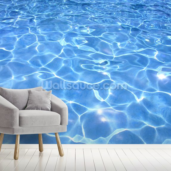 Swimming Pool mural wallpaper room setting
