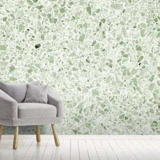 Pale Green Terrazzo Wallpaper Wall Murals
