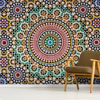 Moroccan Flooring Wallpaper Wall Murals