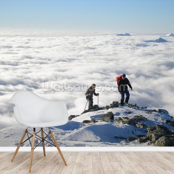 Mountain Hiking wall mural room setting