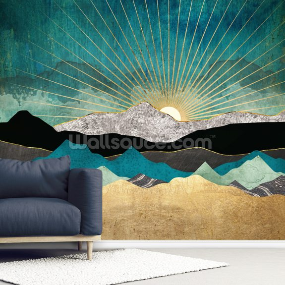 Peacock Vista wall mural room setting