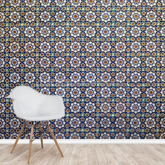 Arabic Tiles Wallpaper Wallsauce Us