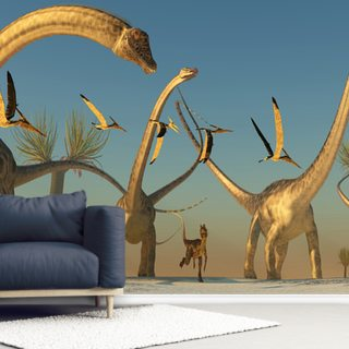 Diplodocus Dinosaur Journey Wallpaper Wall Murals
